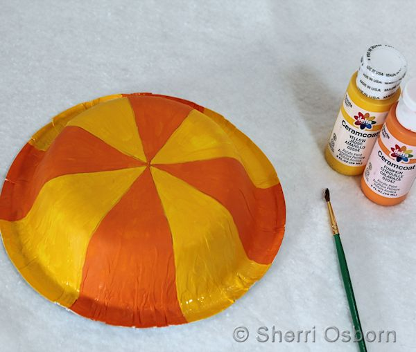 Paint Your Paper Bowl Umbrella