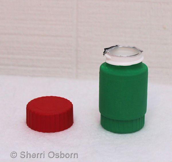Paint Pill Bottle Flower