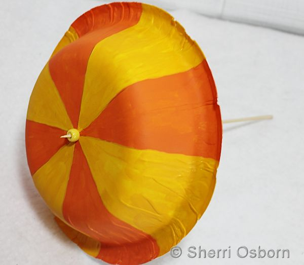 Recycled Bowl Umbrella Craft