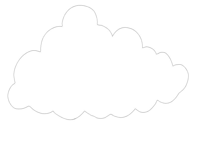 Printable Cloud Pattern