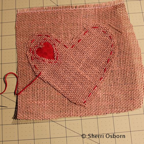 How to Sew a Burlap Heart