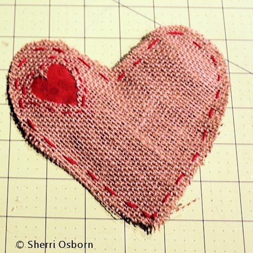 Finishing Your Burlap Heart