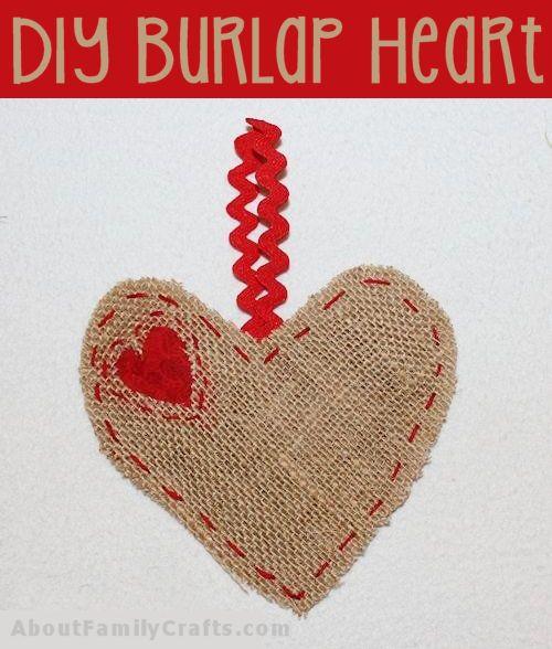 DIY Burlap Heart