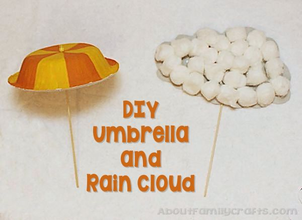 DIY umbrella and Rain Cloud