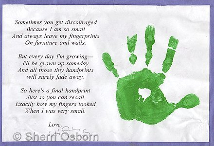 How to Make a Tiny Handprint and Poem