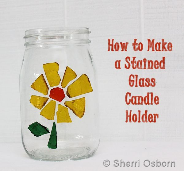 Stained Glass Candle Holder Craft