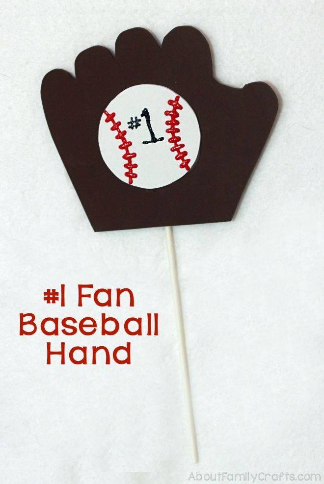 Number 1 Fan Baseball Hand
