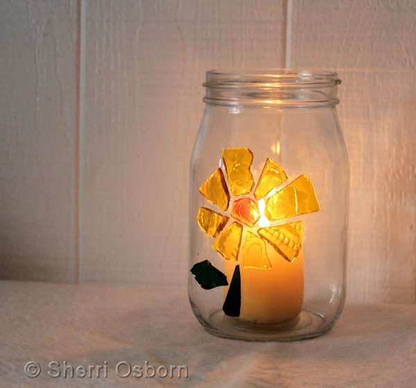 how to make a stained glass candle holder craft