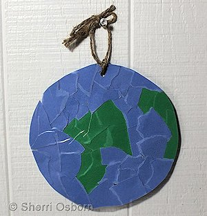 How to Make a Con-Tact Paper Earth Craft