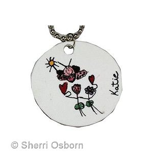 How to Turn a Drawing into a Necklace