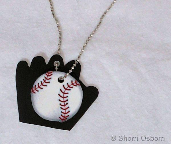 Shrink Plastic Baseball Charms