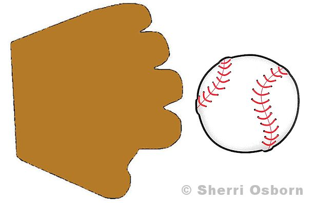 Baseball and Mitt Pattern