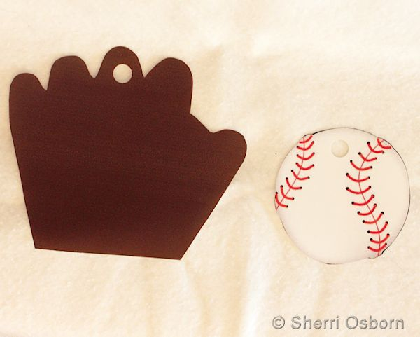 Baseball and Mitt Printed on Shrink Plastic