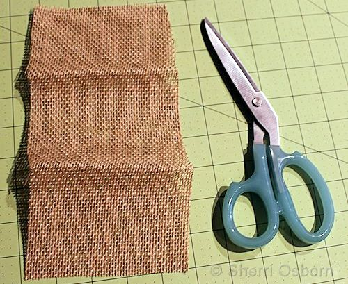 Cut andPress Your Burlap Envelope