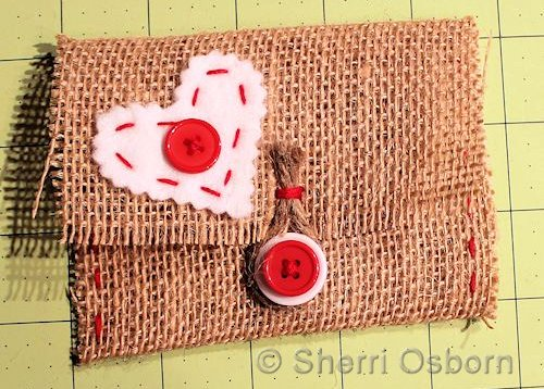 Burlap Craft Envelope