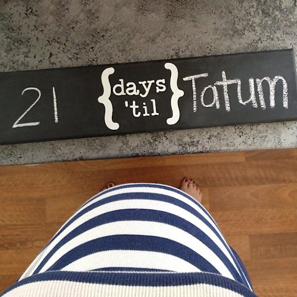 Chalkboard Countdown Wall Hanging