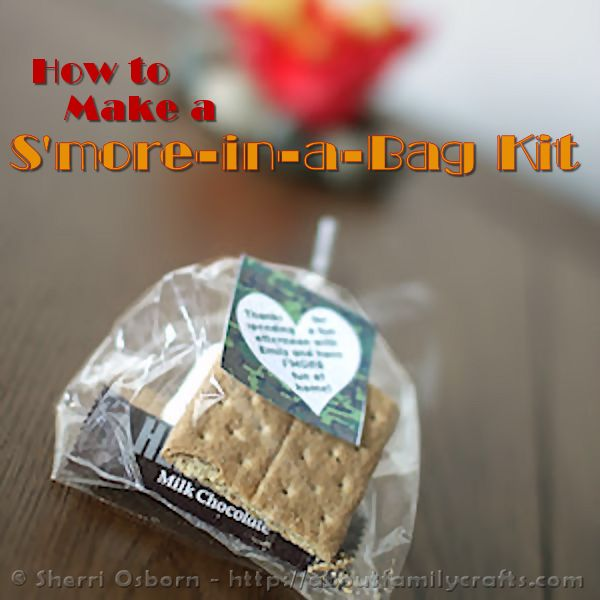 How to Make a S'more Kit Party Favor
