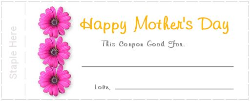 How to Make Mothers Day Printable Coupons – Printable Coupon Templates Free