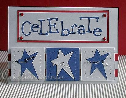 Celebrate 4th of July Card at Craftideas