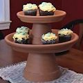 Clay Pot Cupcake Stand