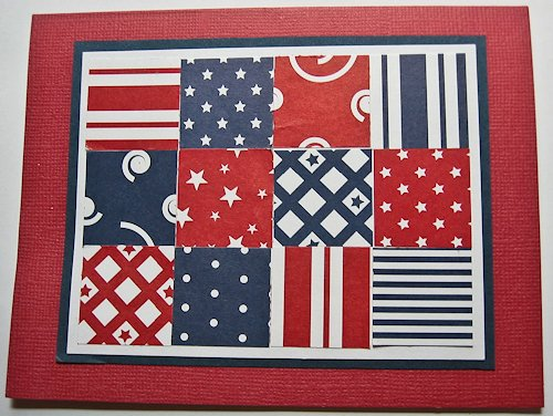 Patchwork Patriotic Card at Carol Hartery's Creations