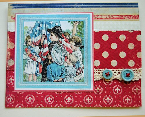 Vintage Fourth of July Card