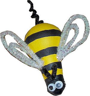 Make a Light Bulb Bumble Bee