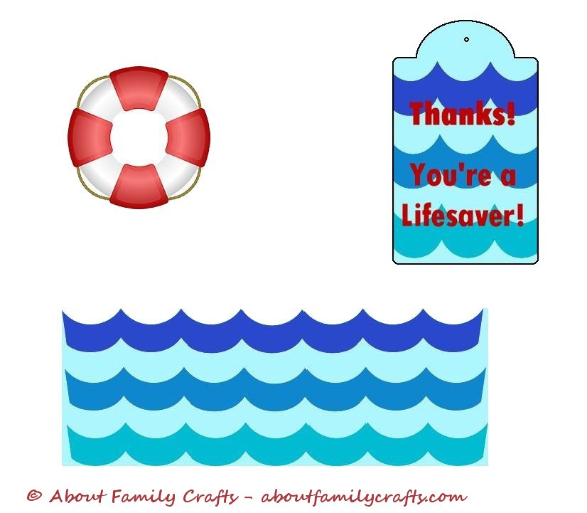 image relating to You're a Lifesaver Printable titled LifeSaver Thank On your own Present Relating to Household Crafts