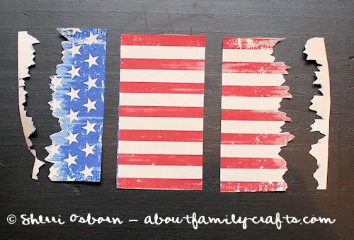 Cut up the Vintage Flag Graphic