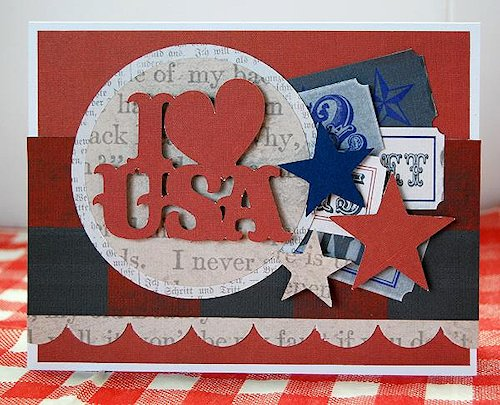 I {heart} USA Card at Cricut