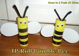 Make a Toilet Paper Roll Bumble Bee