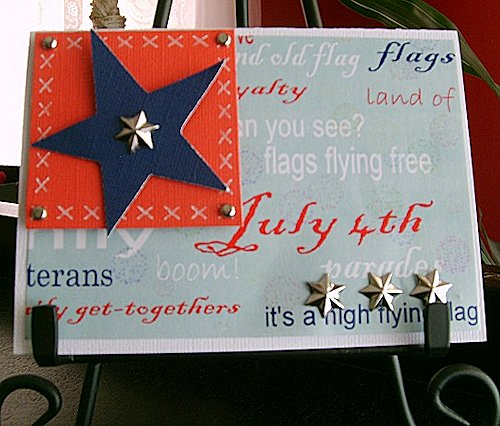 July 4th Handmade Card at Dinglefoot's Scrapbooking