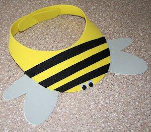 Make a Bumble Bee Craft Foam Visor