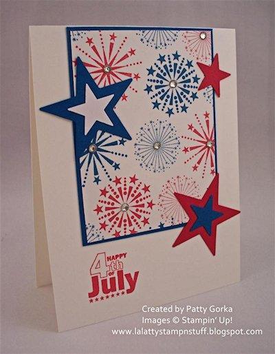 Patriotic Fireworks Card at LaLatty Stamp 'N Stuff