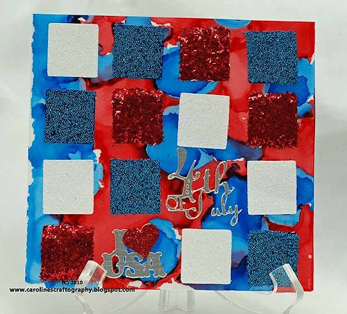 Squared 4th of July Card at Caroline's Craftography