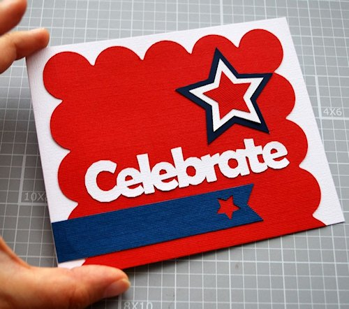 Celebrate 4th of July Card at The Inspiration Party by Maria Palito