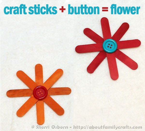 How to Make Craft Stick Flowers