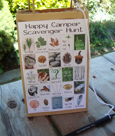 How to Make a Camping Scavenger Hunt For The Kids