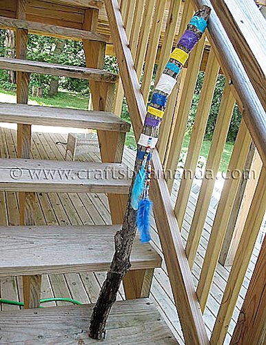 How to Make Colorful Walking Stick