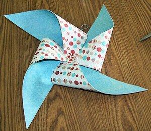 Denise's Paper Pinwheel Ornament