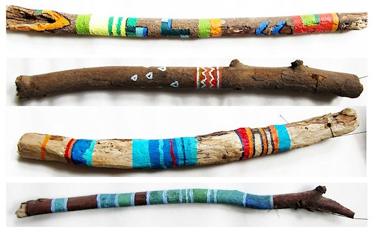 Making Painted Sticks