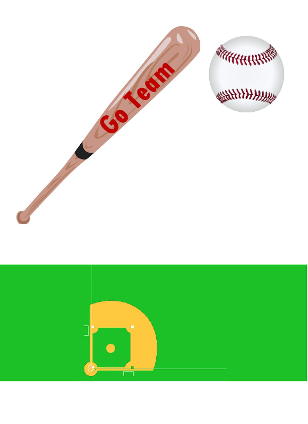 Go Team Baseball Party Favor or Gift
