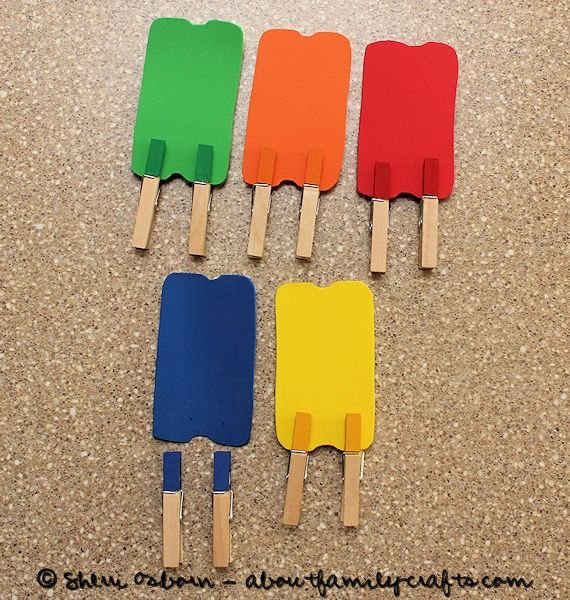 Color Matching Popsicles