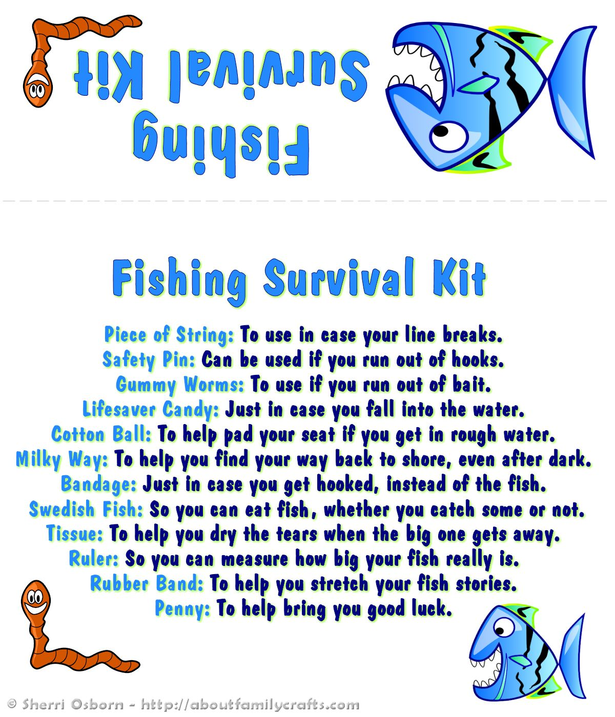 How to Make a Fishing Survival Kit | About Family Crafts