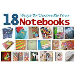 18 Ways to Decorate Your Notebooks-250