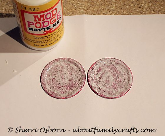 Seal the Glitter using Mod Podge