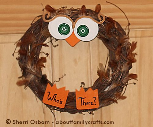 finish the owl wreath