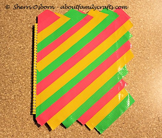 Place Duct Tape Paper on Notebook