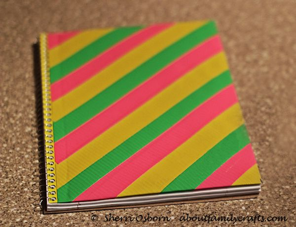 Finish Duct Tape Notebook