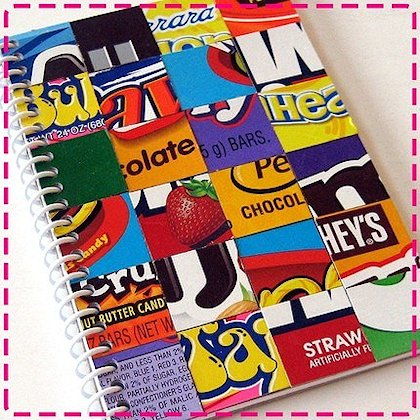 Candy Wrapper Notebook